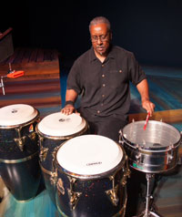 Snare and Congas